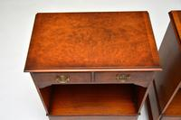 Pair of Antique Georgian Style Burr Walnut Bedside Cabinets (3 of 10)