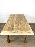 Antique Oak Scrub Top Kitchen Table (11 of 11)