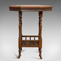 Antique Lamp Table, English, Walnut, Octagonal, Side, Games, Edwardian c.1910 (10 of 10)