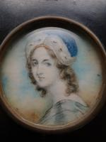 Mid 19th Century Miniature Portrait of a Young Female Beauty (2 of 3)