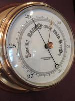 Antique London Bulkhead Marine Barometer (3 of 7)