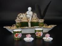 Very Fine & Rare Late 19th Century Continental Porcelain Encrier (3 of 6)