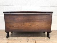 Small 18th Century Antique Elm Six Plank Coffer Chest (11 of 11)