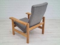 Danish Design by H.J.Wegner, GE 163a, Armchair, Oak, 70s, Furniture Wool, Renovated (3 of 9)