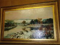 Large Victorian Oil Landscape by C.J.Fox (4 of 5)