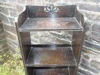 Arts & Crafts Oak Open Bookshelf (9 of 10)