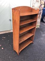 Antique Oak Open Bookcase (3 of 7)