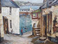 Oil on Canvas Cornish Sea View Listed Artist Dora Johns 1966 (5 of 10)