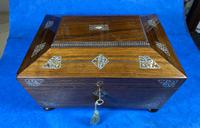 William IV Rosewood Jewellery Box with Inlays (7 of 12)