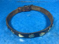 Victorian Brass Mounted Hide Dog Collar (7 of 10)