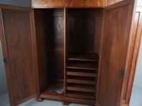 Figured Walnut 3 Door Wardrobe by Whytock and Reid (8 of 14)