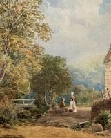 William Charles Goddard (exh.1885) Stunning Country Watermill Landscape Painting (7 of 15)