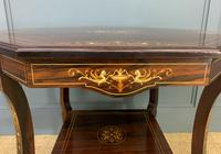 Inlaid Rosewood Table by James Shoolbred (2 of 11)