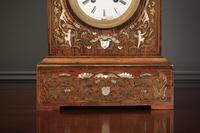 French Brass Inlaid Rosewood Mantle Clock (9 of 14)