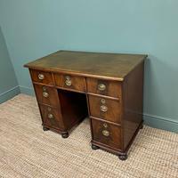 Small Mahogany Victorian Antique Pedestal Desk (7 of 7)