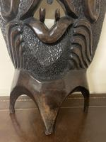 Huge African Hand Carved Free Standing Mask (3 of 6)