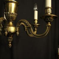 French 5 Light Gilded Brass Antique Chandelier (5 of 10)