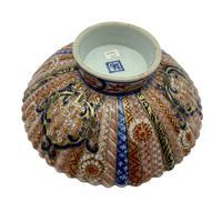 Antique Oriental Imari Porcelain Pedestal Dish c.1870 (4 of 8)