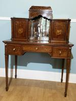 Victorian Mahogany And Inlaid Desk. (8 of 9)