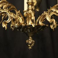 French Gilded 8 Light Chandelier (9 of 10)