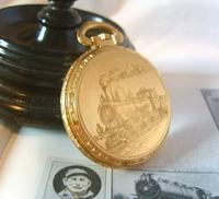 Vintage Pocket Watch 1970s Railroad 12ct Gold Plated West Germany Nos (5 of 11)