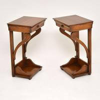 Pair of Antique Empire Style Fruitwood Side Tables (5 of 8)