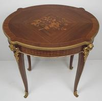 Early 20th Century Marquetry Inlaid Mahogany Table (5 of 5)