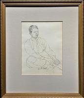William Robert Hay - Original - Seated Student Portrait Pencil Drawing (2 of 12)