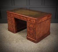 Exceptional Victorian Figured Walnut Desk (10 of 18)