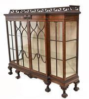 Antique Chippendale China Cabinet Mahogany Antique c.1910 (11 of 15)