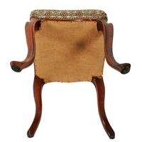 Square Victorian Rosewood Stool (4 of 6)