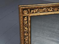 Antique Gilded & Ebonised Rectangular Wall Mirror (4 of 14)