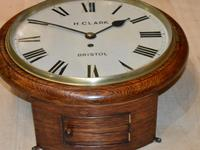 H Clark Bristol Fusee Dial Wall Clock (2 of 4)
