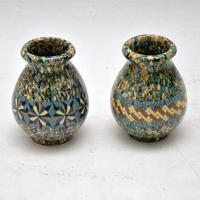 1960's Pair of Vallauris Ceramic 'Mosaic' Vases by Jean Gerbino (9 of 10)
