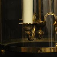 French Convex Gilded Triple Light Antique Lantern (6 of 10)