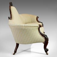 Antique Spoon Back Sofa, English, Walnut, 2 Seat Settee, Early Victorian, 1840 (8 of 12)
