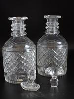 Good Pair of Georgian Mallet Shaped Decanters (5 of 5)