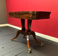 Exceptional Regency Period Rosewood Inlaid Fold-over Occasional Card Games Table (11 of 14)