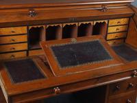 Victorian Oak Cylinder Top Desk or Bureau (13 of 16)