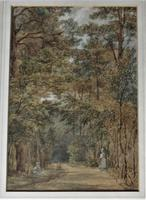 Mary Smirke - Girls on a Woodland Path, Watercolour, Framed (2 of 8)