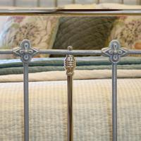 Antique Bed with Nickel Plating (6 of 9)
