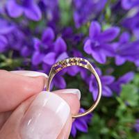 Art Deco 18ct Yellow Gold, Platinum, Sapphire & Diamond Ring (2 of 9)