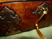 Dome Top Fitted Walnut Stationery Box c.1875 (5 of 11)