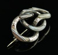 Antique Victorian Scottish Agate & Silver Knot Brooch (9 of 11)