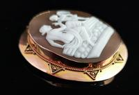 Antique Victorian Cameo Brooch, 9ct Gold, Cupid (9 of 10)