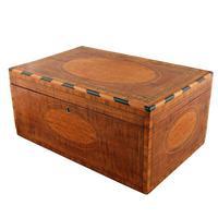 Mahogany & Satinwood Deed Box (3 of 8)