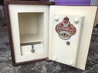 Antique Hopkins Birmingham Cast Iron Compact Safe with 2 Keys (8 of 9)