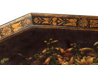 Late 18th Century Painted Octagonal Papier-Mâché Tray (3 of 4)