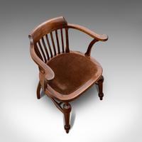 Antique Captain's Chair, English, Mahogany, Armchair, Seat, Edwardian c.1910 (5 of 12)