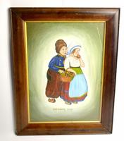 Early 20th Century Dutch Comical oil on canvas by H Rowbotham (4 of 12)